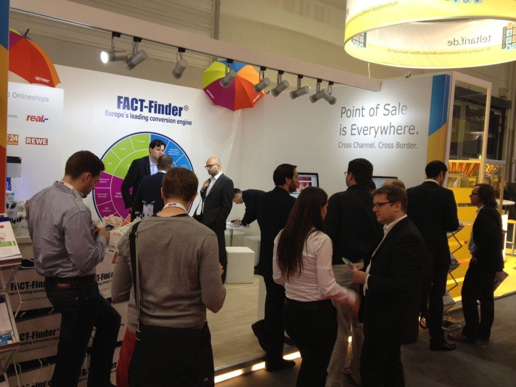 Rush at the FACT-Finder booth: Visitors were especially interested in new possibilities for Data Driven Commerce.