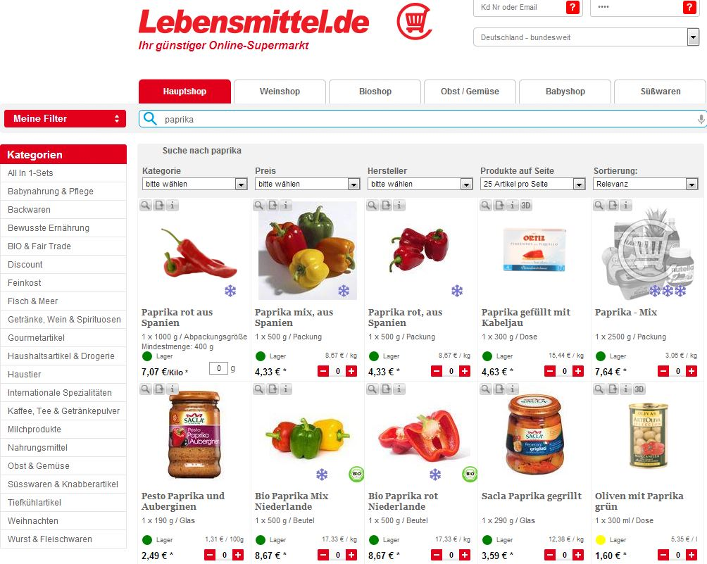 Quickly finding the right product and getting it delivered: With high usability on the website, Lebensmittel.de offers total shopping convenience.