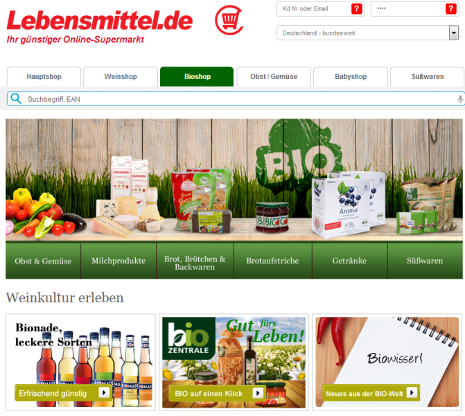 A growing trend: Online pure players like Lebensmittel.de are winning more and more market shares in the grocery.