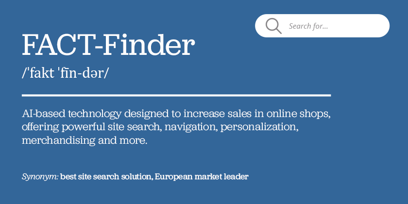 FACT-Finder ecommerce terminology