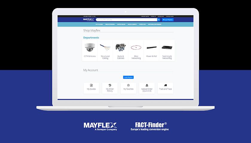 Screenshot of Mayflex's online shop