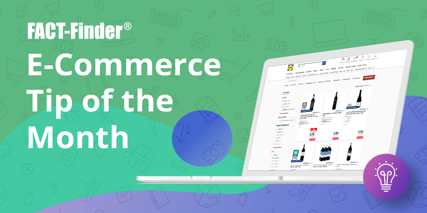 e-commerce tip of the month product filters