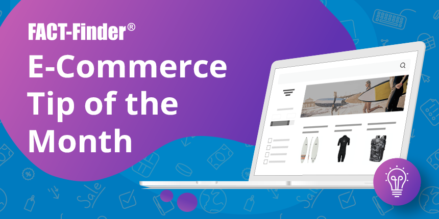E-Commerce Tip of the Month