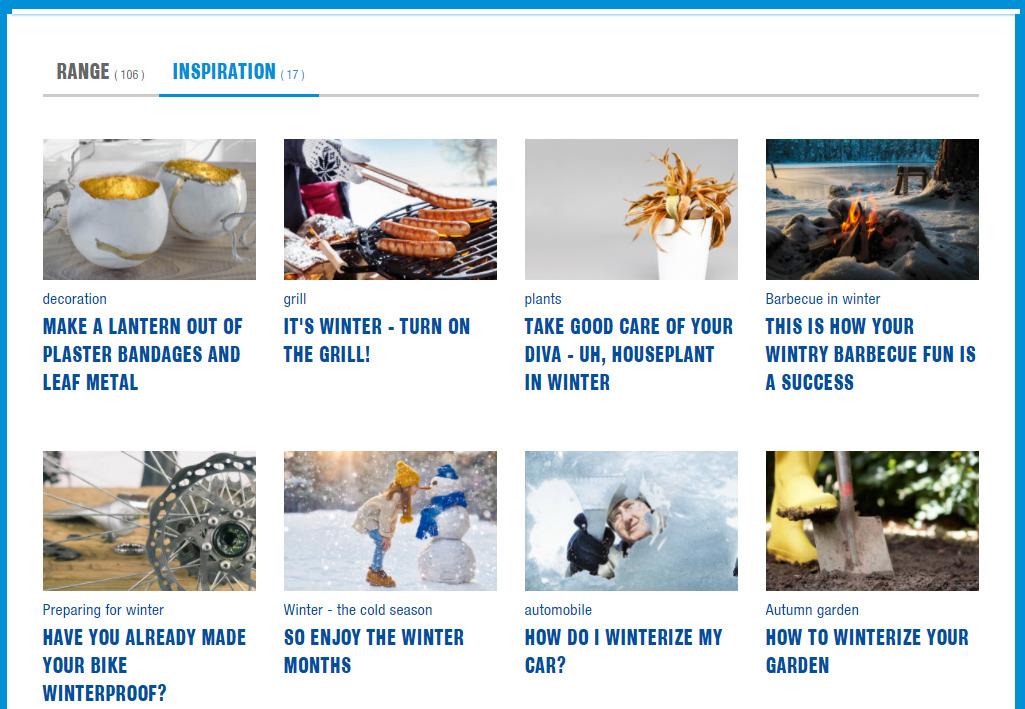 Great inspirational creative content on Jumbo's website