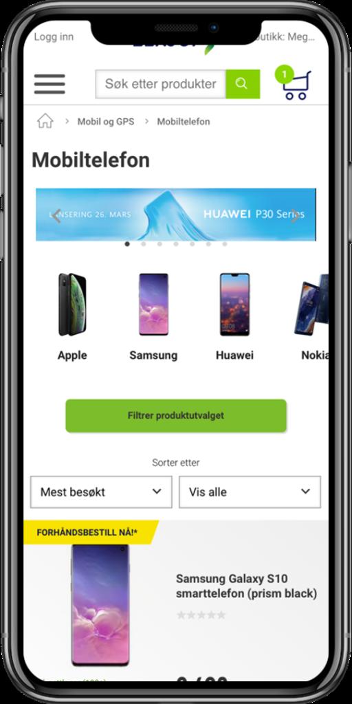 Elkjøp Nordic optimized their mobile navigation experience