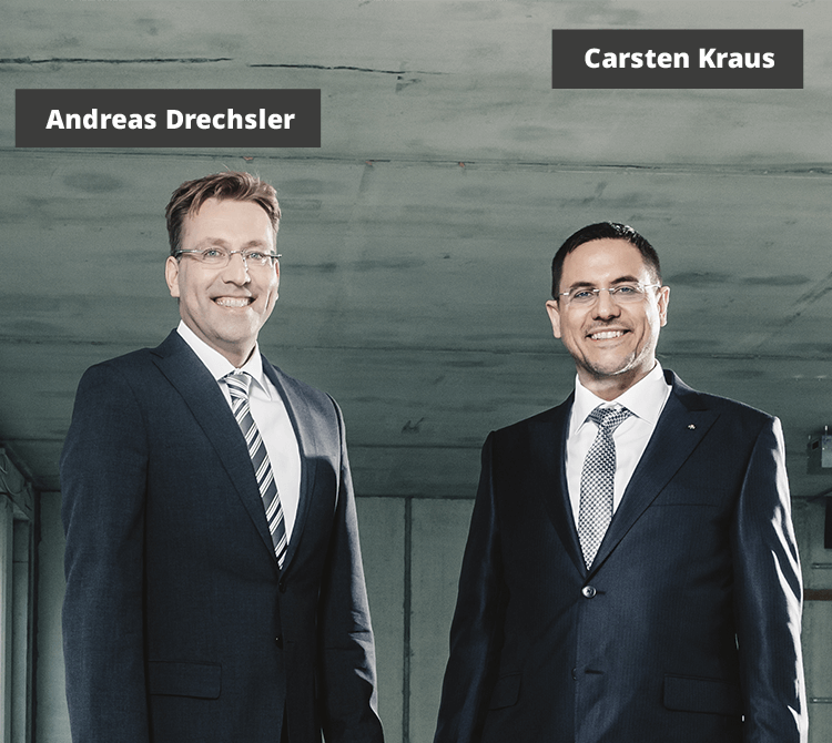 Carsten Kraus (Founder & CEO) and Andreas Drechsler (MD & COO)